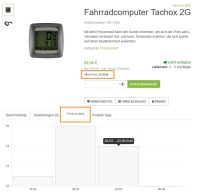 Fahrradcomputer Tachox 2G