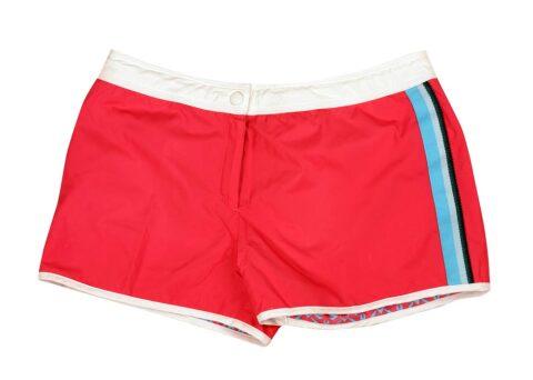 Damen-kurze Sporthose rot
